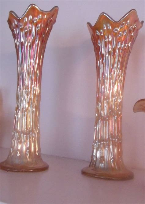 Carnival Glass Vases by Carnival Glass Vases From Carolines Collectibles On Ruby