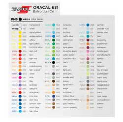 oracal 651 color chart oracal 631 vinyl world 651