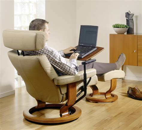recliner chair with laptop table stressless 174 personal table by ekornes 174 scan design furniture