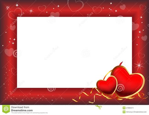 valentines picture frames day frame stock image image 27896471