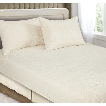fleece bed sheets downland fleece fitted sheet set king bedding b m