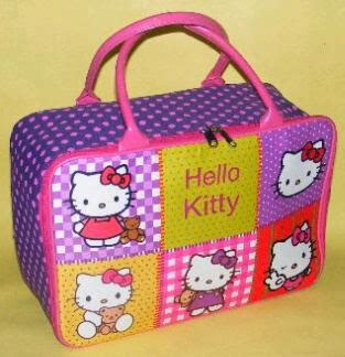 Tas Travel Bag Anak Karakter Kanvas Hello Ungu 40 Cm tas travel bag anak hello murah