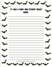 Halloween Writing Paper Template Halloween Writing Template Www Imgarcade Com Online