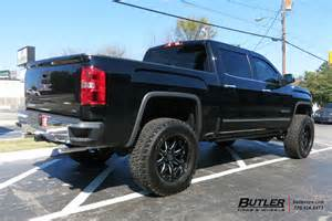 Black Gmc Truck Wheels Gmc With 20in Black Rhino Wheels Exclusively