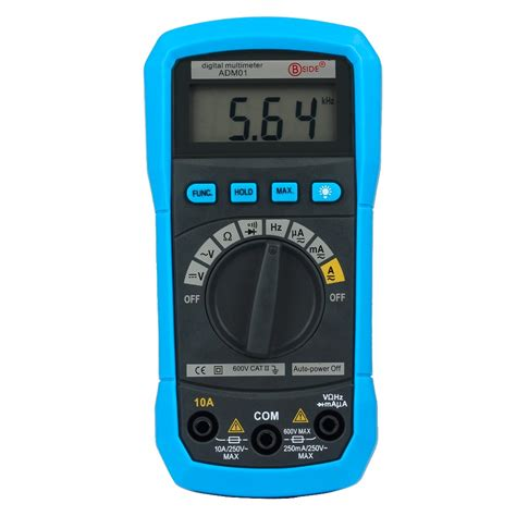 auto diode test bside adm01 auto ranging digital multimeter dmm dc ac voltage current hz meter tester diode