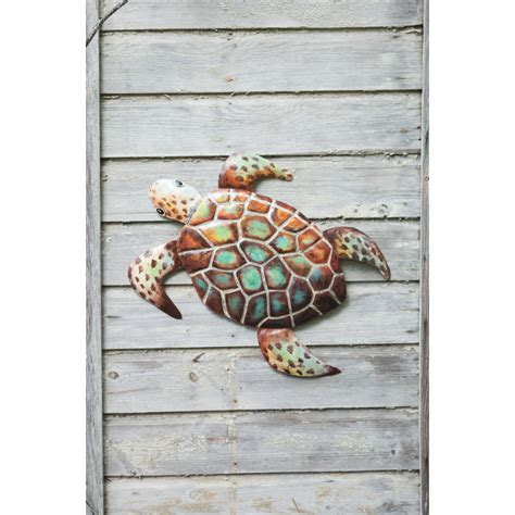 metal turtle wall decor hammered painted metal sea turtle wall hanging