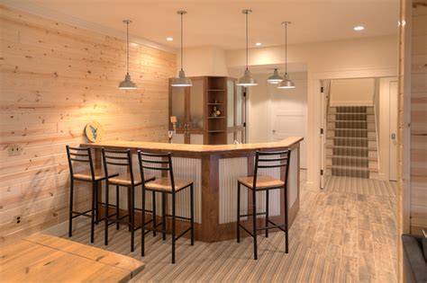 Cottage Basement Ideas by Classic Cottage Style Basement Other Metro