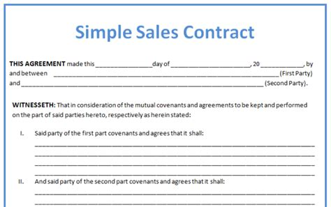 19 Perfect Exles Of Business Contract Templates Thogati Simple Business Contract Template