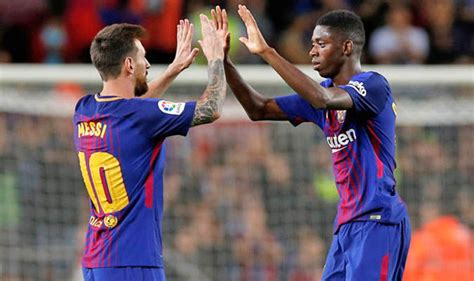 ousmane dembélé goals for barcelona barcelona news lionel messi sends clear message to