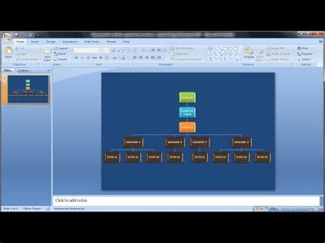 membuat struktur organisasi di powerpoint 2007 tutorial powerpoint 2007 cara membuat struktur
