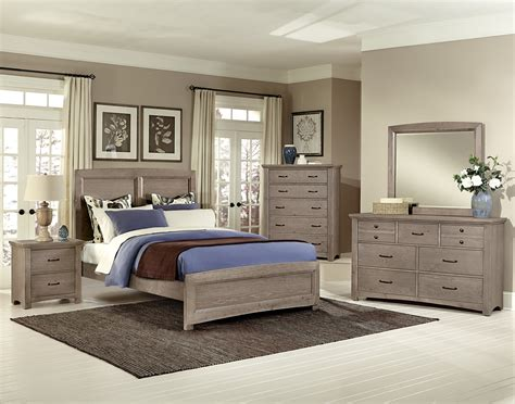 Vaughan Bassett Transitions Driftwood Oak Bb61 Bedroom Group Basset Bedroom Furniture