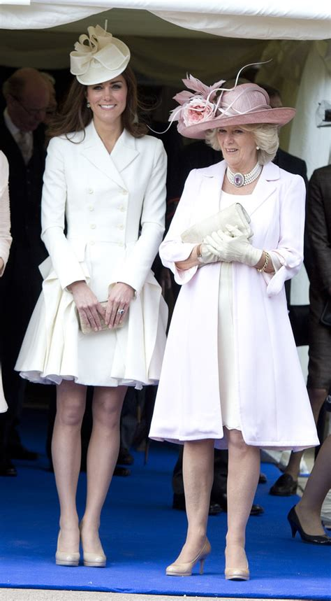 kate middleton receives royal order from queen elizabeth kate middleton and camilla parker bowles photos photos