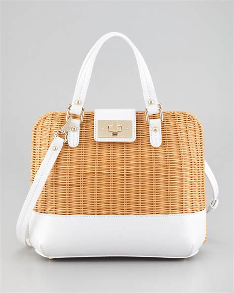 Kate Spades Wicker Clutches And Satchels by Kate Spade New York Waverly Terrace Medium Wicker Satchel