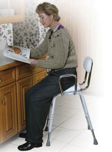 Kitchen Stool For Disabled by Angled Kitchen Perching Stool Elderstore