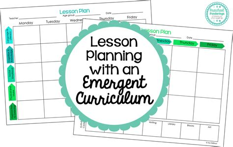 Preschool Ponderings Lesson Planning With An Emergent Curriculum Curriculum Planning Template