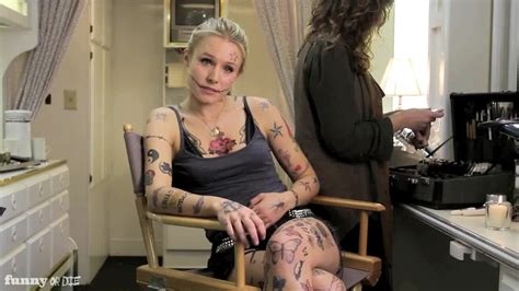 kristen bell tattoos kristen bell s is actually covered in realitista