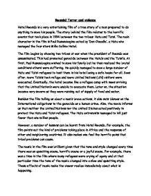 Hotel Rwanda Review Essay by Hotel Rwanda Review Gcse Marked By