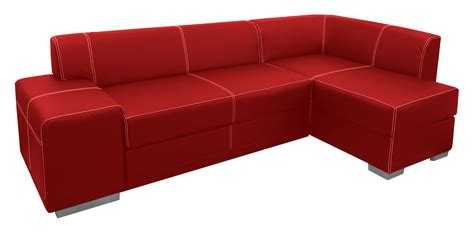 transparent couch red sofa png image