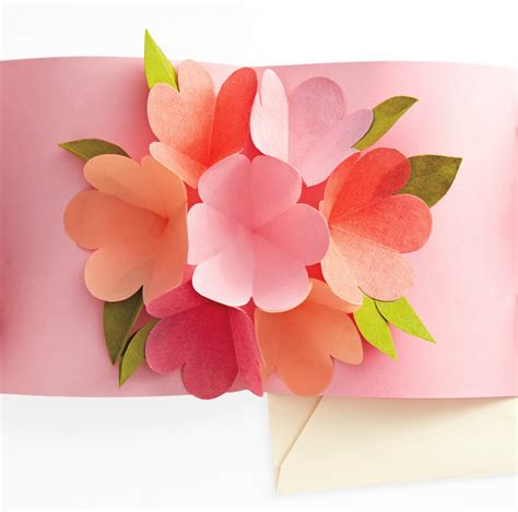 card template for flowers craft maniacs flower pop up card