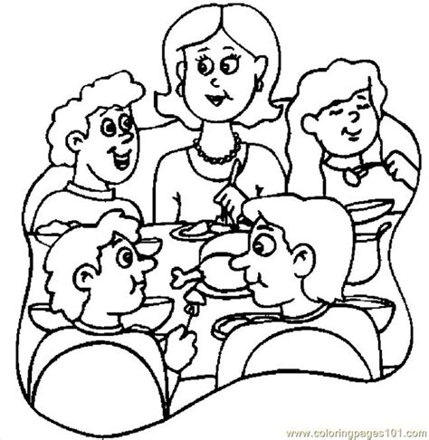 coloring page thanksgiving dinner thanksgiving dinner 6 coloring page free thanksgiving