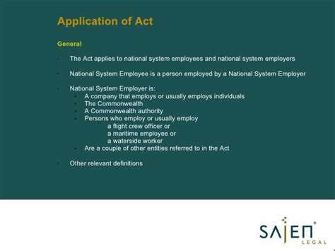 section 8 a of the small business act power point presentation fair work act aug 2009