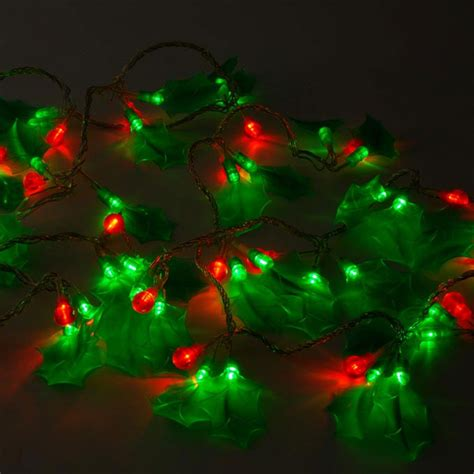 60 led holly and berry christmas lights avalible at this
