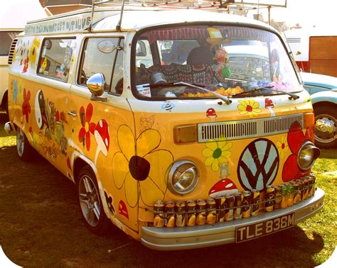 volkswagen hippie van inside hippy bus livin the dream flickr