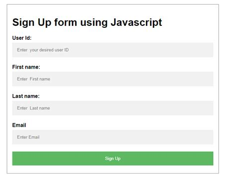 submit and validate html form using javascript