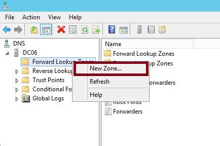 configure  lookup zone  server