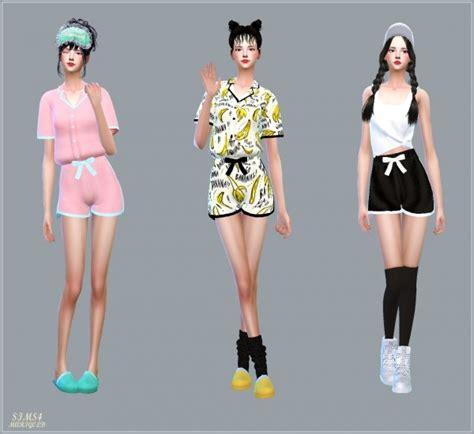 sims 4 pajamas sims4 marigold ribbon pajamas shorts sims 4 downloads