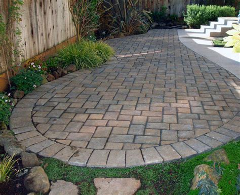 Landscape Ideas With Pavers Pavers Landscaping Brick Paver Patio Designs Pavers