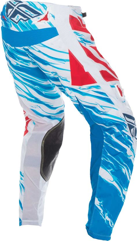 red white and blue motocross 2017 fly racing kinetic relapse pants mx atv bmx