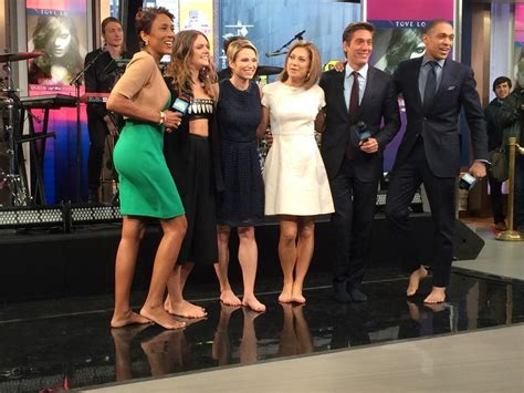 on gma shows ginger zee amy robach legs high heels amy robach s feet
