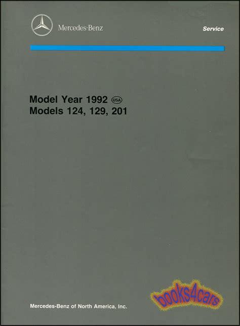 service manual 1992 mercedes benz 300sl owners manual fuses service manual automobile fuse manual 1992 mercedes service introduction book repair shop 124 129 201 ebay