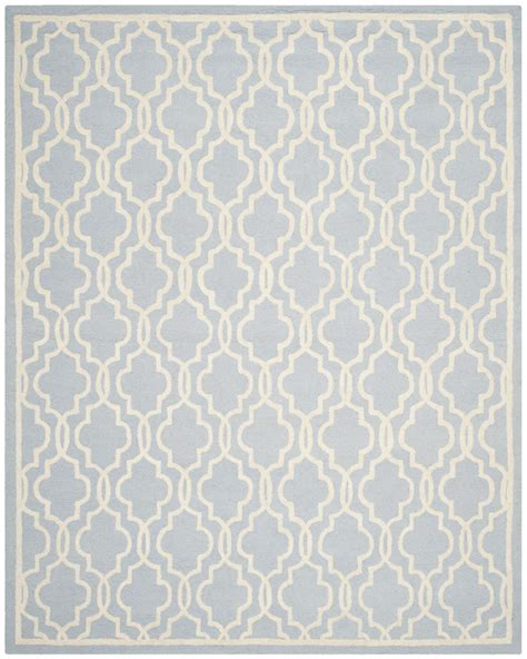 Safavieh Blue And Ivory Rug Safavieh Cambridge Cam131a Light Blue And Ivory Area Rug