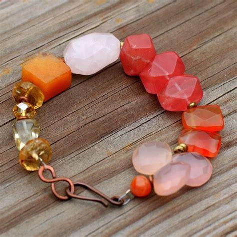 Chain Quartz Bracelet Orange 1000 ideas about gemstone bracelets on