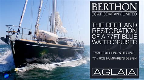 bluewater boat company 77ft bluewater cruiser refit mast stepping rigging
