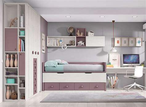 habitaciones juveniles dobles compactas modernas  cama