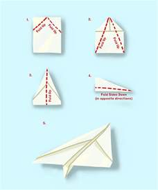 How To Make A Paper Airplane Easy - how to make a paper aeroplane garth bev
