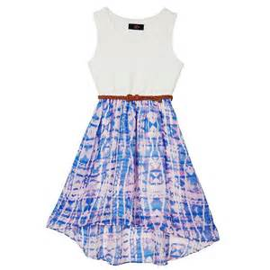 Iz amy byer belted high low dress girls from kohl s