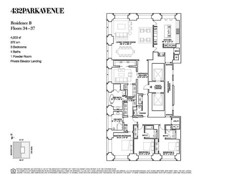 432 park ave floor plans 432 park avenue records its first blockbuster closing at