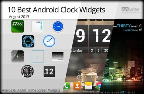 widgets for android all about android phones 10 best android clock widgets august 2013