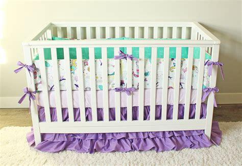 Mermaid Crib Bedding Ocean Girl Baby Bedding Purple Mint Mermaid Crib Bedding