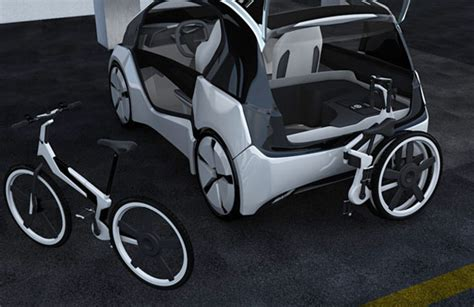 Hybrid Electric Vehicle Future 2 Seater Mobility Hybrid Concept Car With Spacious Cabin