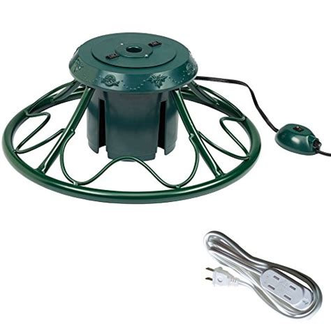 dyno swivel heavy duty fancy rotating artificial tree stand with extension cord