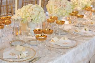 white and gold table decorations white wedding d 233 cor ideas bridalguide