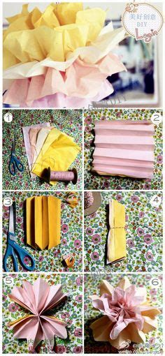 How To Make Colored Paper Flowers - tissue paper flower on tissue paper