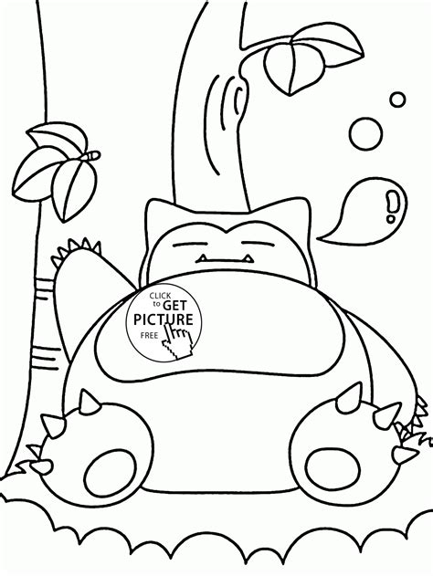 coloring pages for pokemon characters big pokemon snorlax coloring pages for kids pokemon