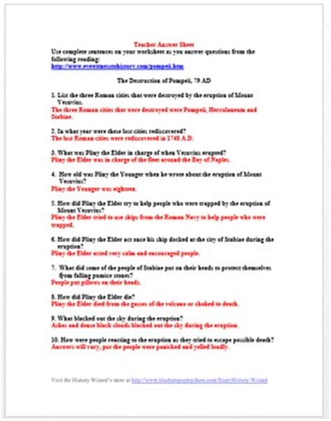 gladiator film worksheet the dog of pompeii questions pictures to pin on pinterest
