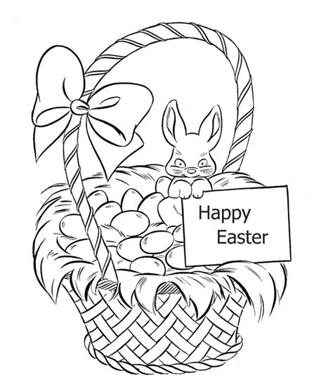 coloring pages of easter baskets easter basket coloring pages free coloring pages